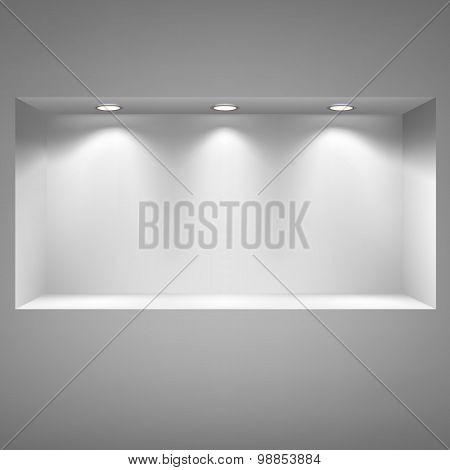 Gray niche for presentations.