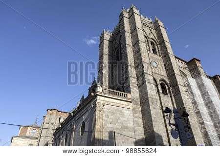 Catedral Of Avila,  First Gothic Cathedral In Spain, Europe
