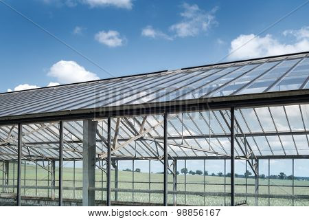Greenhouse for sewage sludge drying