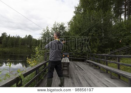 Fisherman on a ramp