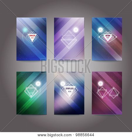 Set of poster, flyer, brochure design template