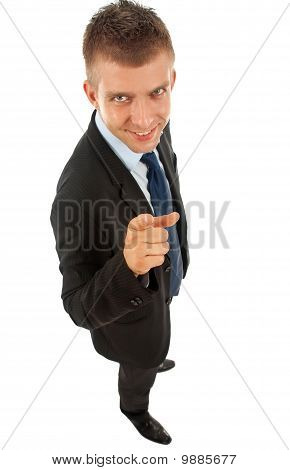 Business Man Pointing At Camera