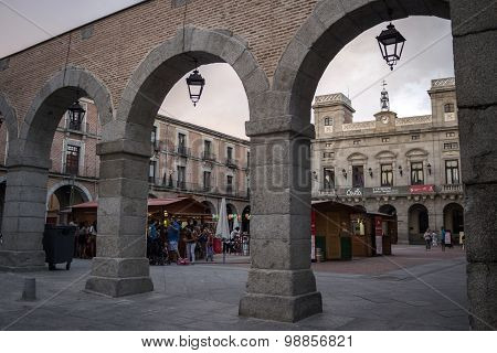 Mercado Chico square, Avila, Spain