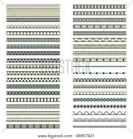 set of forty ethnic decorative elements design