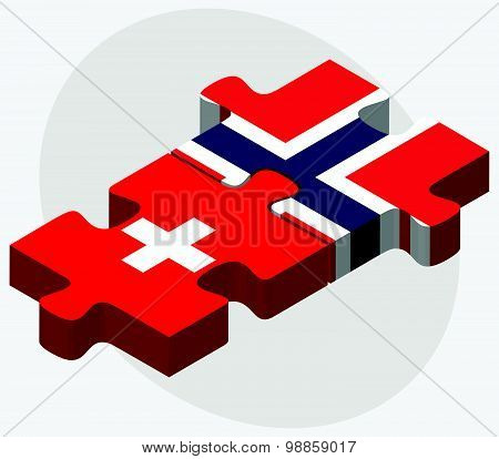 Switzerland And Norway Flags