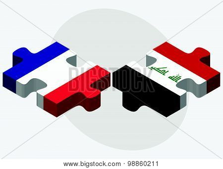 France And Iraq Flags