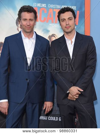 LOS ANGELES - JUL 27:  Jonathan Goldstein & John Francis Daley arrives to the