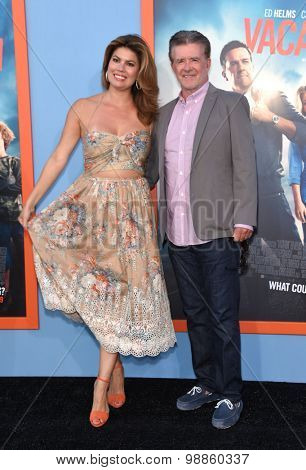 LOS ANGELES - JUL 27:  Alan Thicke & Tanya Callau arrives to the