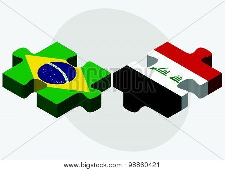 Brazil And Iraq Flags
