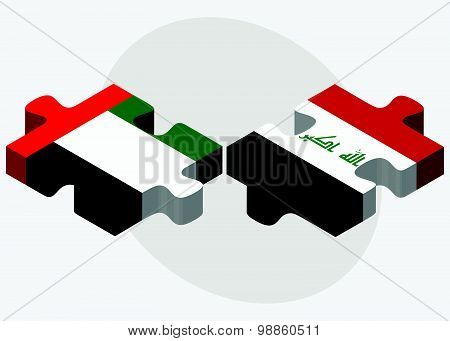 United Arab Emirates And Iraq Flags