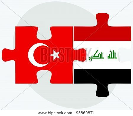 Turkey And Iraq Flags