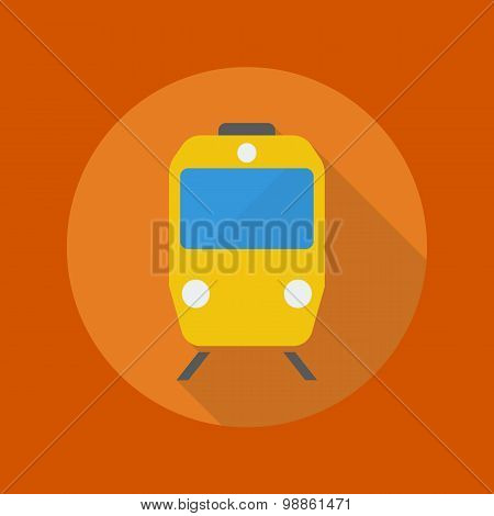 Travel Flat Icon. Train
