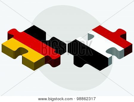 Germany And Yemen Flags