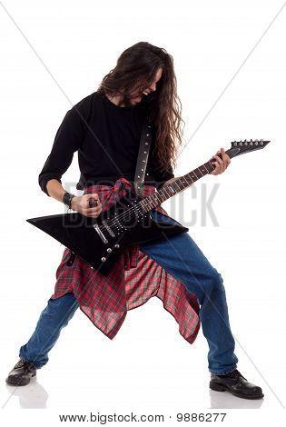 Screaming Heavy Metal Guitarist