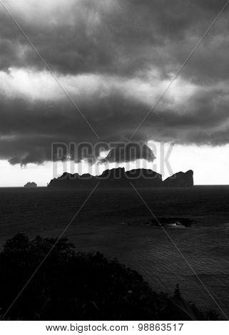 Stormy Bay Gloomy Morning