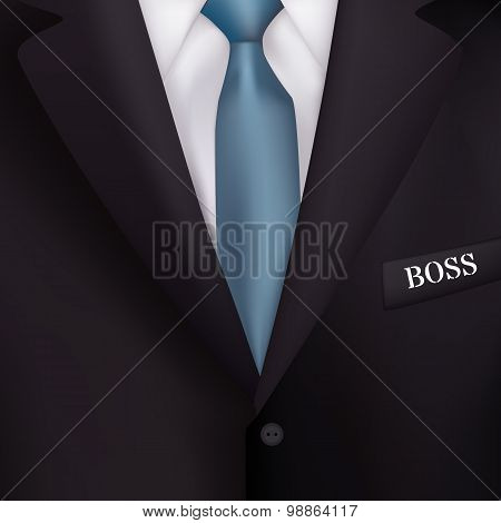 Men's Suit With A Blue Tie-style Realism Backgrounds For  Gift Cards, Business Gifts