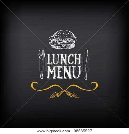Lunch menu logo and badge design.Vector with graphic.