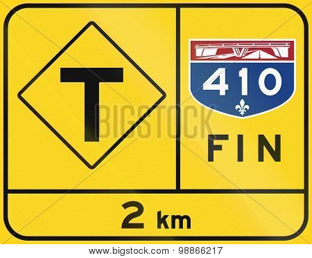 End Of Quebec Highway - T-intersection