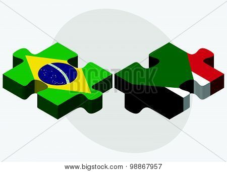 Brazil And Sudan Flags
