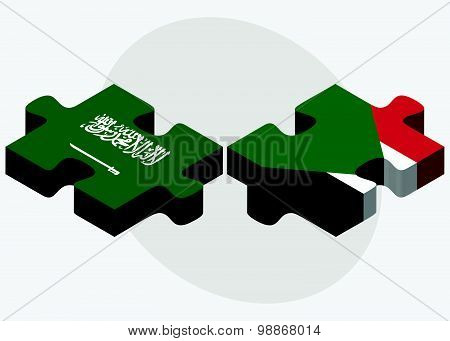 Saudi Arabia And Sudan Flags