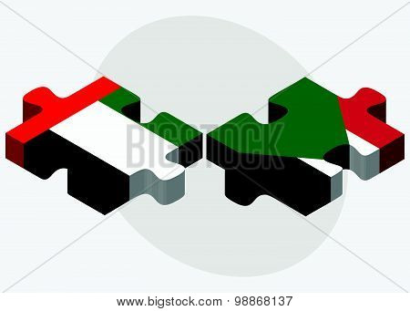 United Arab Emirates And Sudan Flags