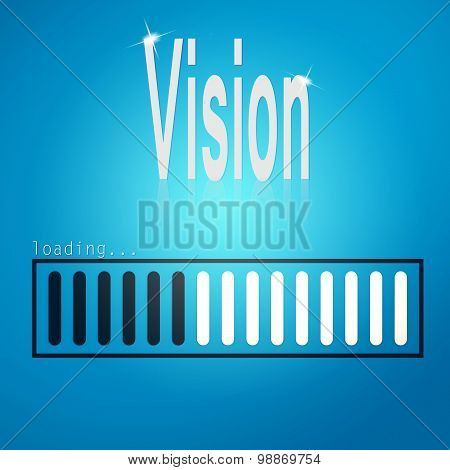 Vision Blue Loading Bar