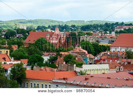 The View Of Old Town, Vilnius, Lithuania