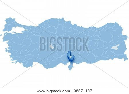 Map Of Turkey, Osmaniye