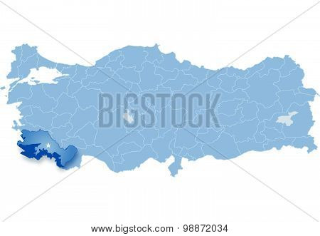 Map Of Turkey, Mersin