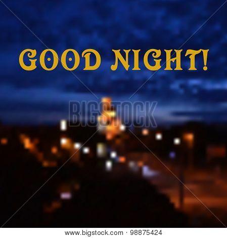 blur light. good night. vector illustration
