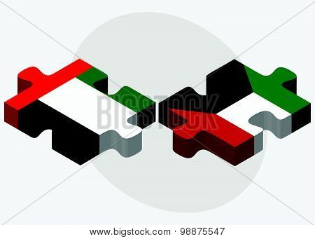 United Arab Emirates And Kuwait Flags