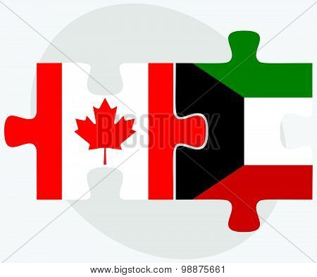 Canada And Kuwait Flags