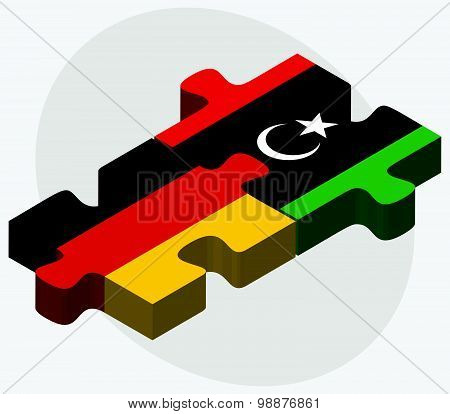 Germany And Libya Flags