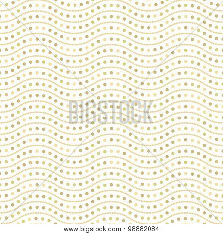 Brown Wavy Dots Seamless Vector Pattern