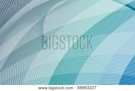 Blue And Turquoise Background With Diagonal Stripes. Horizontal Minimal Backdrop. Can Be Used For Co