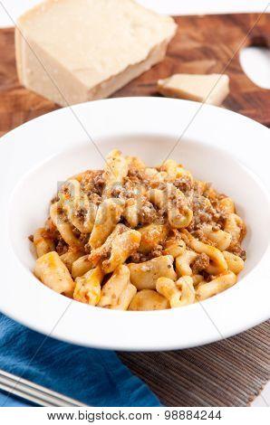 Cavatelli With Meat Sauce