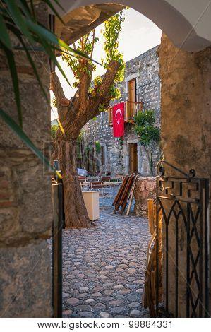 Old narrow street in Turkey