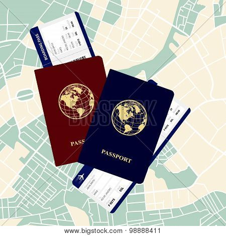 passports tickets