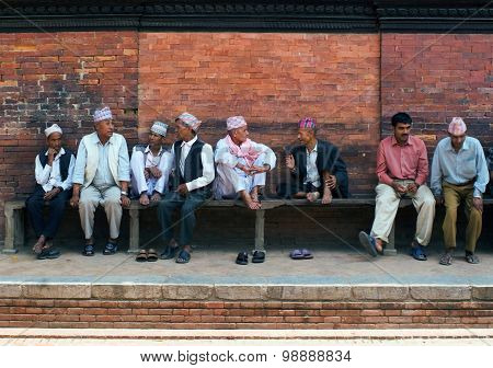 Discussion On A Bench