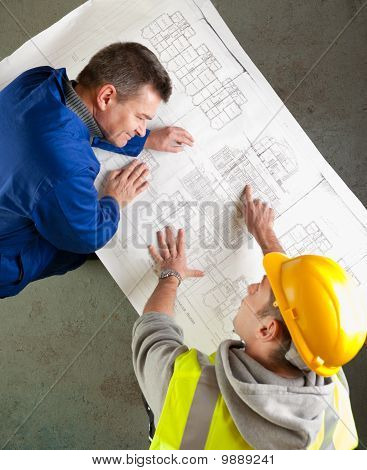 Builders Share Humor About Blueprints