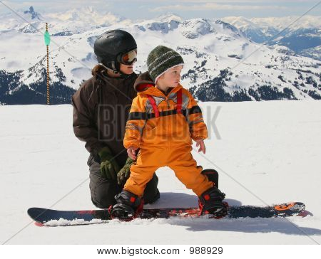 Lección de snowboard
