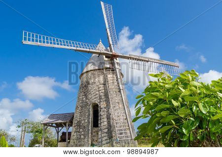 Old Windmill Of Bezard In Marie-galante, Guadeloupe