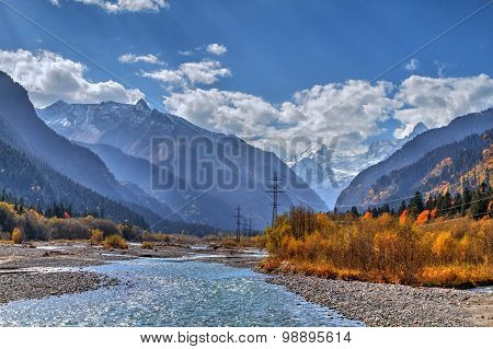 The Mountain Rivers Of The Caucasus