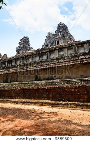 Ta Keo, part of Khmer Angkor temple complex, popular among tourists ancient landmark and place of worship in Southeast Asia. Siem Reap, Cambodia.