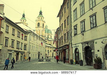 View Of Ljubljana's Historic City Center