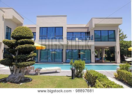Swimming Pool And Modern Luxury Holiday Villa, Belek, Turkey