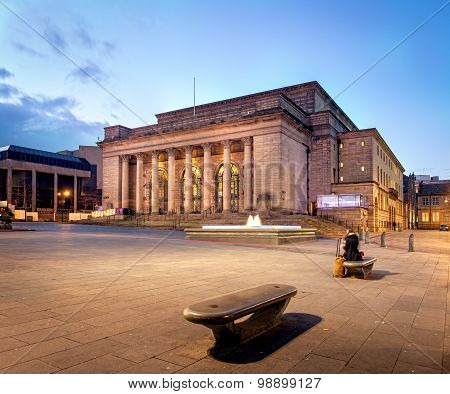 Building Of Sheffield City Hall, Uk