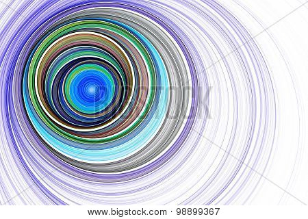 Endless tunnel. Radio waves. Divergent ripples.