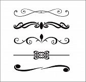 pic of scroll design  - abstract vector design elements borders frames  - JPG