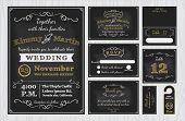 Vintage Chalkboard Wedding Invitations design poster